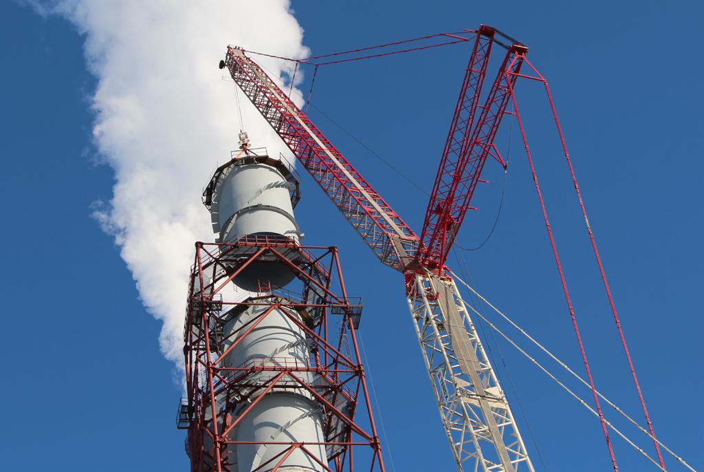 строительство промышленной дымовой трубы